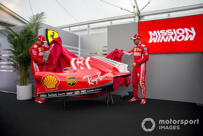 Kimi Raikkonen, Ferrari and Sebastian Vettel, Ferrari memperlihatkan livery Mission Winnow