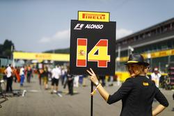 Gridgirl für Fernando Alonso, McLaren