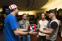 Travis Pastrana, Sebastian Vettel and Petter Solberg