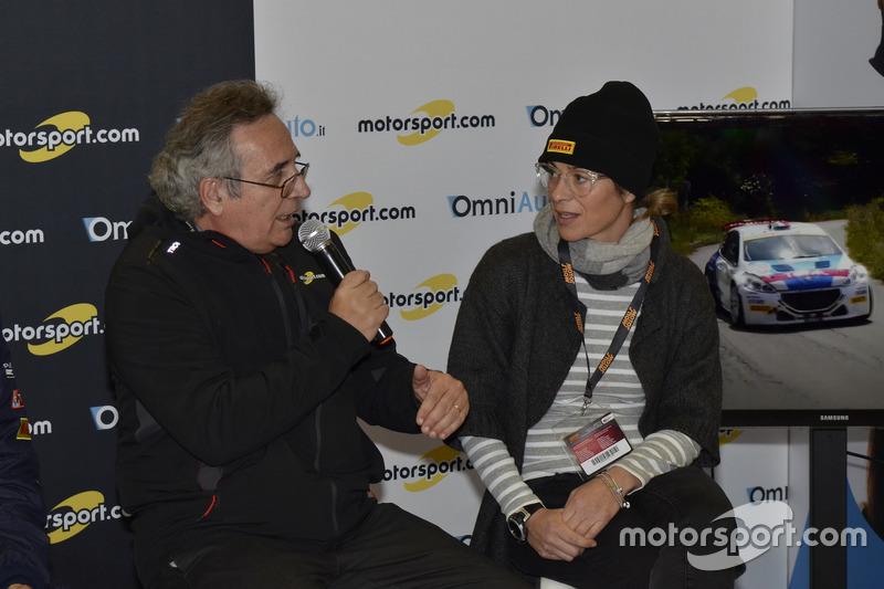 Franco Nugnes, Director de Motorsport.com y Anna Andreussi