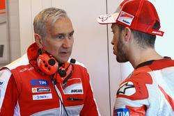 Andrea Dovizioso, Ducati Team, Davide Tardozzi, Ducati Team Director del equipo