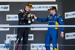 Podium: Artem Markelov, RUSSIAN TIME, Oliver Rowland, DAMS
