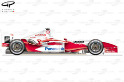 Toyota TF104 side view