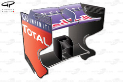 Red Bull RB9 rear wing, Singapore GP