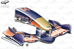STR01 (Red Bull RB1) 2006 front wing and nose