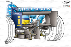 Renault R25 2005 rear wing rear view