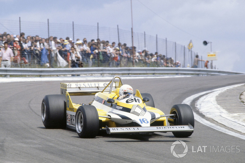 12. Рене Арну, Renault RE30, Гран При Франции-1981 (Дижон): 1:05,950