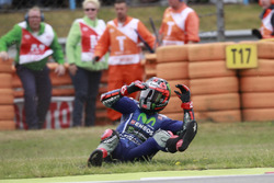 Maverick Viñales, Yamaha Factory Racing, crash