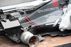 Unfallauto von Romain Grosjean, Haas F1 Team VF-17