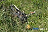 Місце зіткнення велосипеда Нікі Хейдена з автомобілем