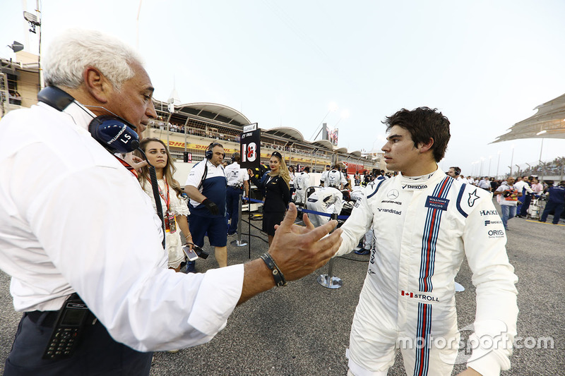 Lance Stroll, Williams, and his father Lawrence