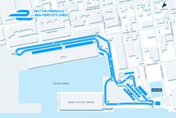Le tracé de l'ePrix de New York