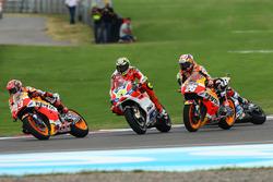 Marc Marquez, Repsol Honda Team, Andrea Iannone, Ducati Team, Dani Pedrosa, Repsol Honda Team