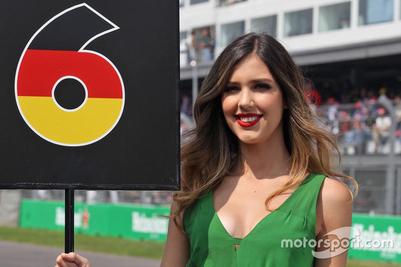 Chica de la parrilla de Nico Rosberg, Mercedes AMG F1