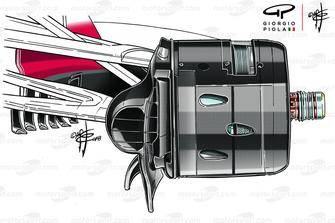 Écope de frein de la Ferrari SF71H