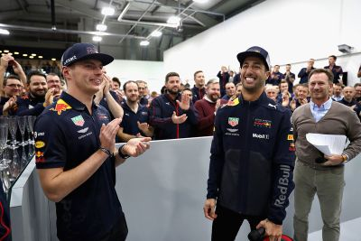 Red Bull drivers factory visit