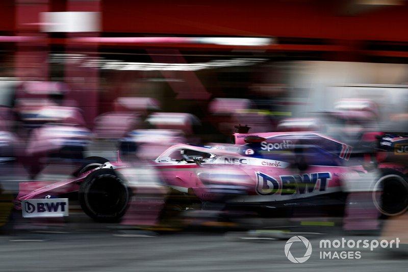 Серхіо Перес (Racing Point RP19 Mercedes) на піт-стопі