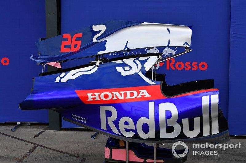 Toro Rosso STR14: l'engine cover con la pinna