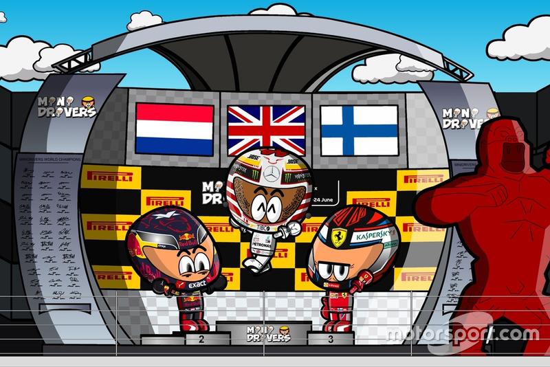 El podio del GP de Francia 2018 de F1, por 'MiniDrivers'