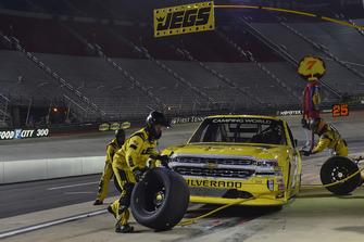 Cody Coughlin, GMS Racing, Chevrolet Silverado JEGS.com, makes a pit stop.