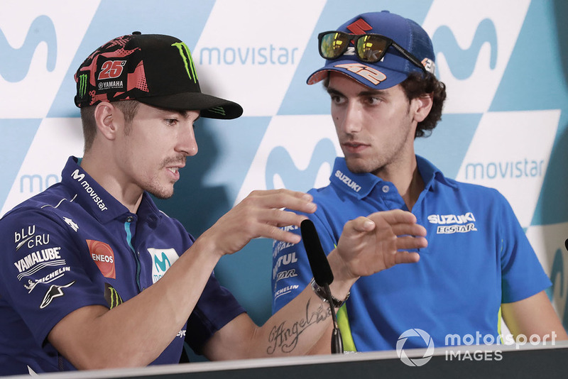 Maverick Viñales, Yamaha Factory Racing, Alex Rins, Team Suzuki MotoGP