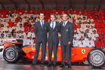 Ferrari F2001, Luca di Montezemolo, Rubens Barrichello, Michael Schumacher