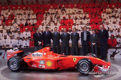 Presentazione Ferrari F2001, Maranello