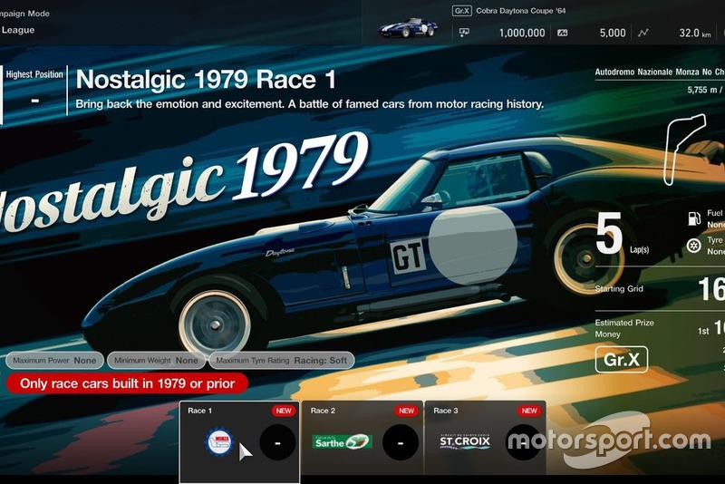 GT League: Nostalgic 1979