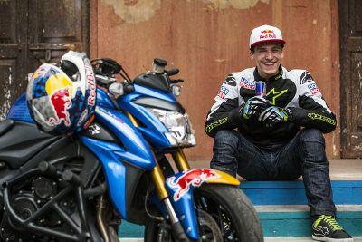 Motorrad-Stuntshow in Indien