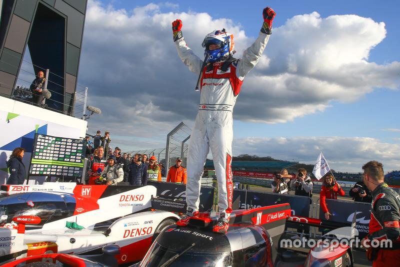 #7 Audi Sport Team Joest Audi R18: Marcel Fässler, Andre Lotterer, Benoit Tréluyer race winners