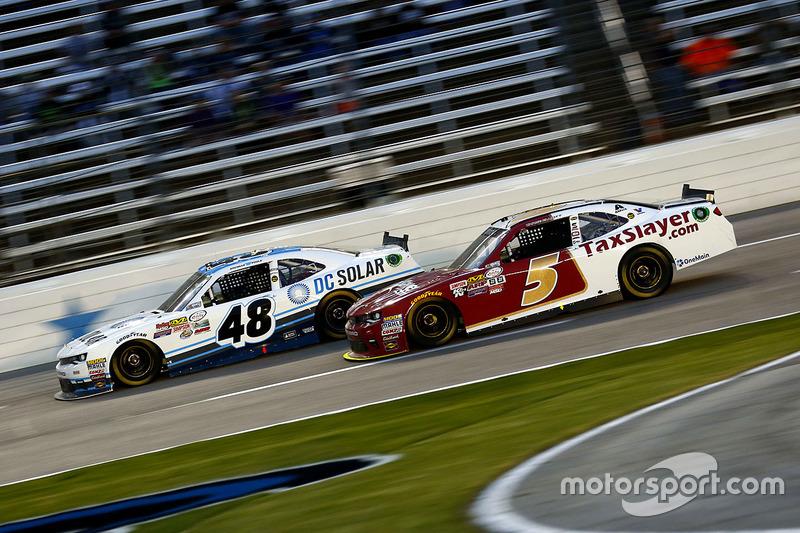Brennan Poole, Chip Ganassi Racing Chevrolet and Chase Elliott, JR Motorsports Chevrolet
