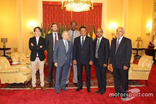 Il Presidente della FIA Jean Todt visita l'Etiopia per la campagna Action for Road Safety