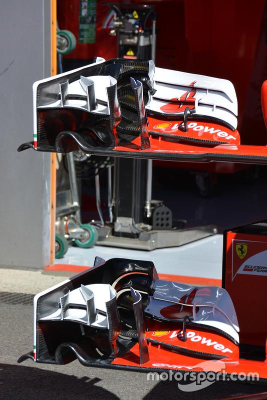 Ferrari SF16-H: dettaglio dell'ala anteriore