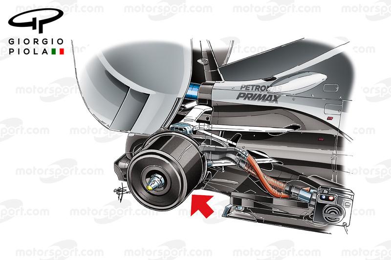 Mercedes brake heater, carbon casing