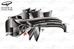 الجناح الامامي لسيارة لوتس إي23
