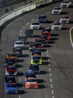 Start: Spencer Gallagher, GMS Racing Chevrolet leads