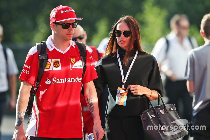 Kimi Raikkonen, Ferrari con la moglie Minttu Raikkonen