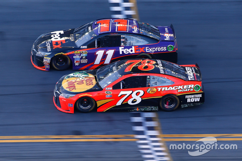 Race winner: Denny Hamlin, Joe Gibbs Racing Toyota