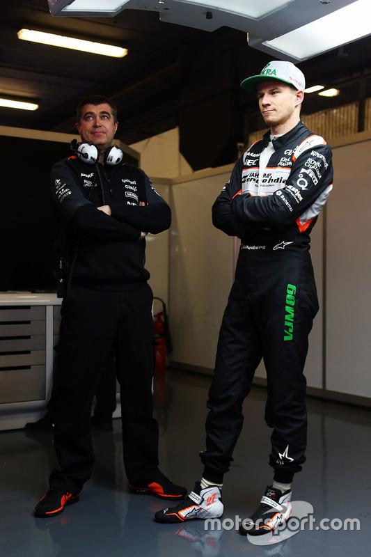 Nico Hulkenberg, Sahara Force India F1 met Bradley Joyce, Sahara Force India F1 Race Engineer