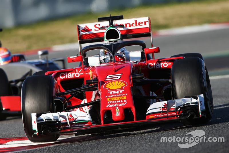 Sebastian Vettel, Ferrari SF16-H, mit Halo