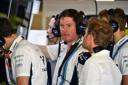 Rob Smedley, Williams Head of Vehicle Performance, Nico Rosberg, Mercedes-Benz Ambassador and Sergey Sirotkin, Williams