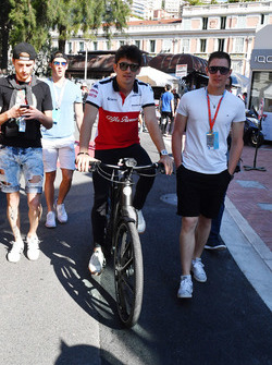 Charles Leclerc, Sauber on a bike
