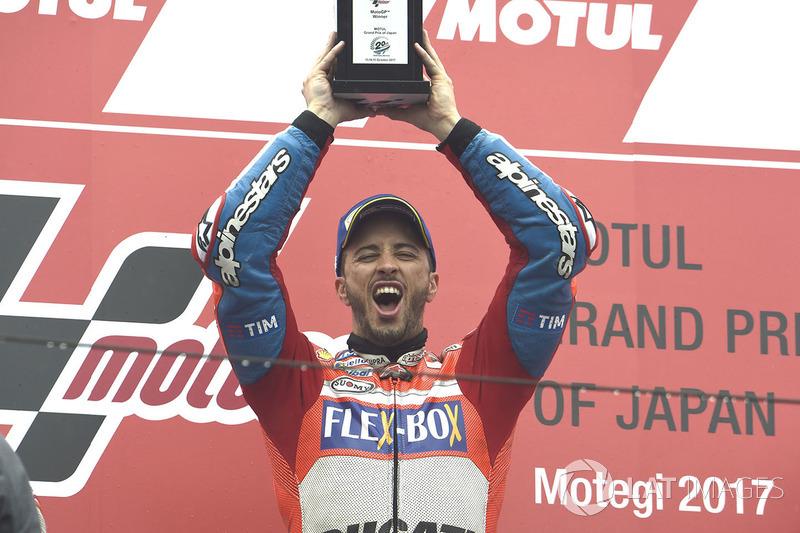 Podium: ganador, Andrea Dovizioso, Ducati Team