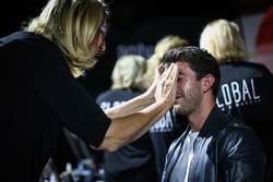 Norman Nato, in make up at Amber Lounge Fasion Show