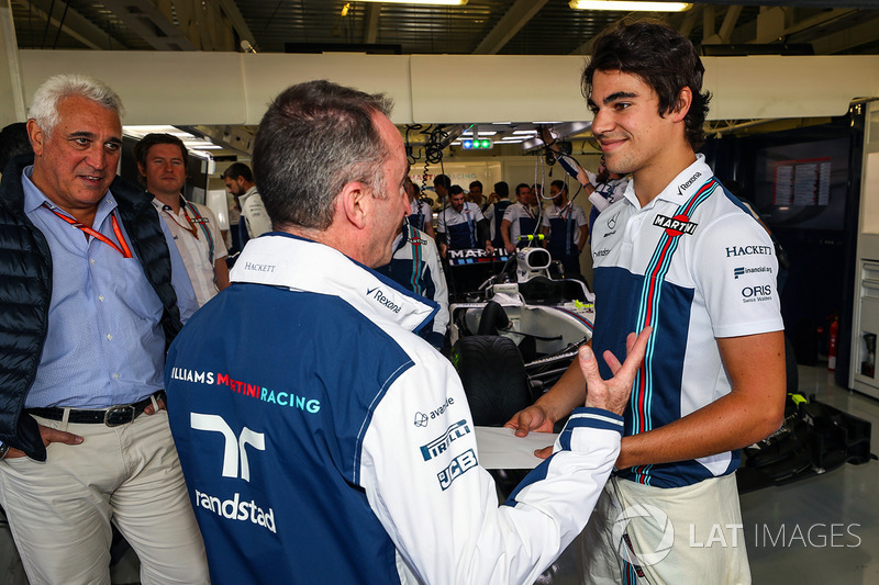 Paddy Lowe, Williams Shareholder and Technical Director  with Lance Stroll, Williams and his Father Lawrence Stroll