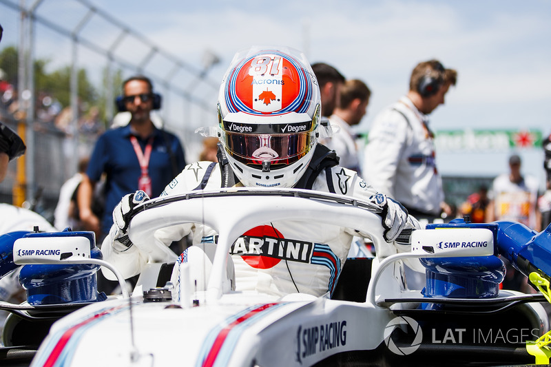 Lance Stroll, Williams Racing, in griglia