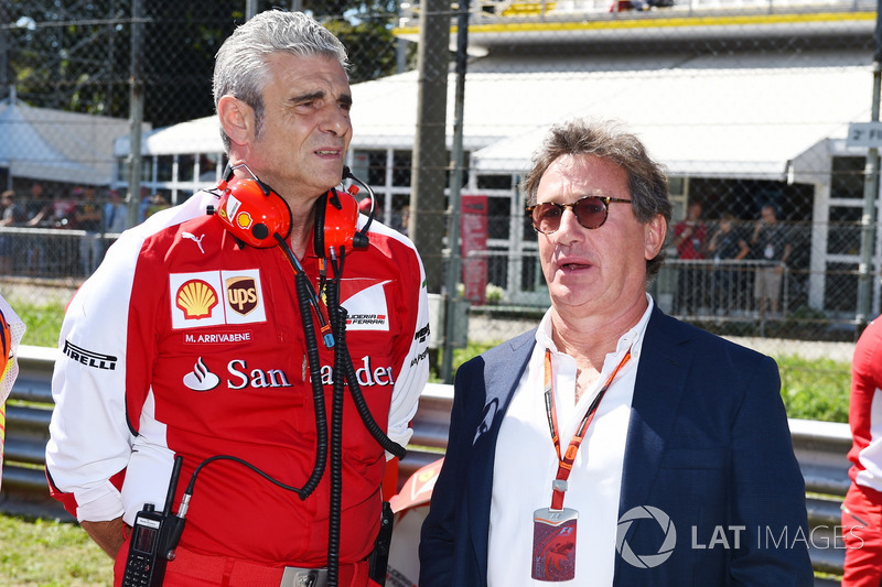 Maurizio Arrivabene, Ferrari Team Principal and Louis Camilleri, Chairman of Philip Morris