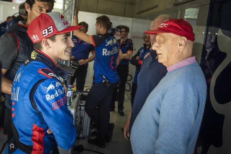Marc Marquez bersama Niki Lauda