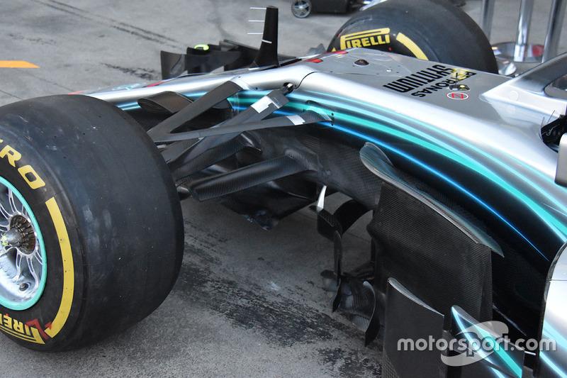 Detalle delantero Mercedes-AMG F1 W09