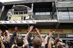 Podium : le troisième Romain Grosjean, Lotus F1 Team